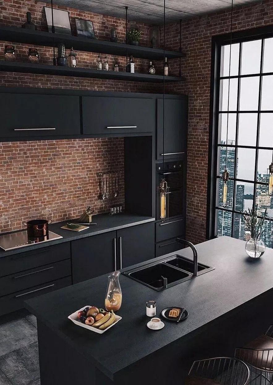 72 Stunning Black Kitchen Decor Ideas Blackkitchen Kitchendecor Aacmm Com Black Kitchen Decor Top Kitchen Trends Industrial Style Kitchen