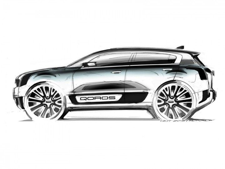 Qoros Teases Compact Hybrid Suv Concept Car Ext Sketch Pinterest