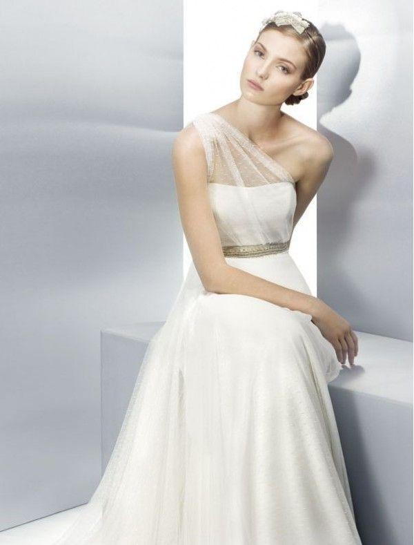 one shoulder wedding dress - Google Search | Wedding Dress Ideas ...