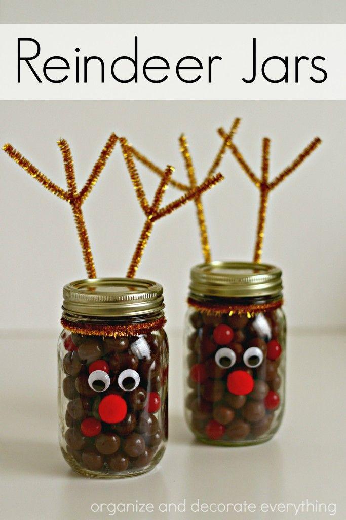Reindeer Jars Christmas Mason Jars Diy Christmas Jars Creative Christmas Gifts