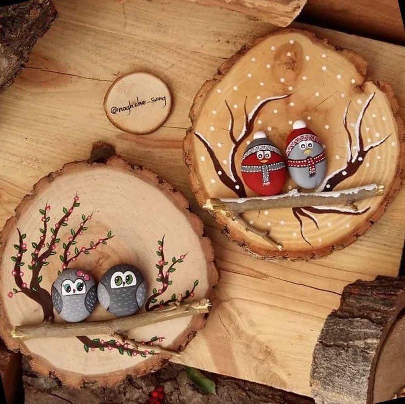 36+ Painted Owl Rocks | Handmade Christmas Ornamen
