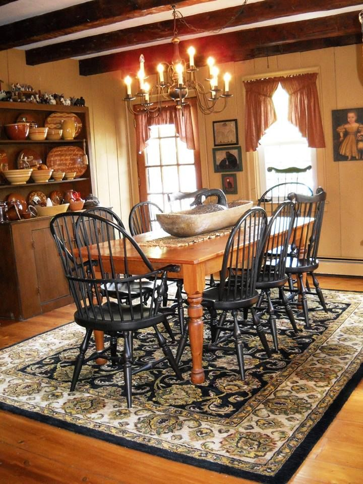 Pin by Brenda Hickson on Country Dining | Colonial dining ...