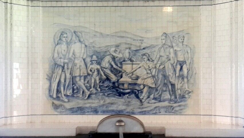 Painel da piscina emanatória das Termas de #Araxá, #MinasGerais. #Art