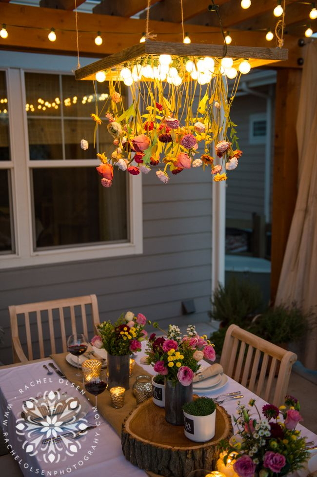 Garden Party Floral Chandelier Rachel Olsen Photography for Suburban Bitches