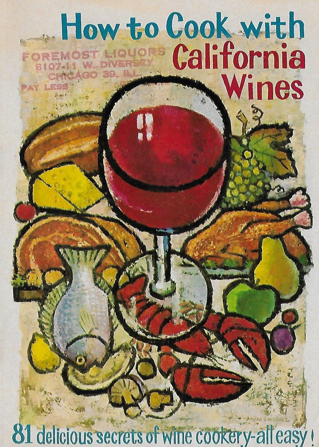 Vintage California Wine Cookbook And Guide Etsy In 2020 Wine Poster California Wine Wine Country California