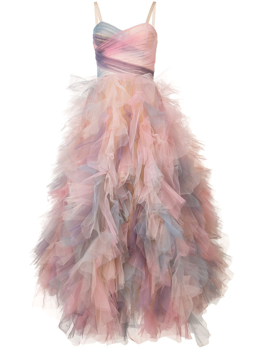Marchesa frill shift dress | Vestidos | Pinterest | Vestido de gala ...
