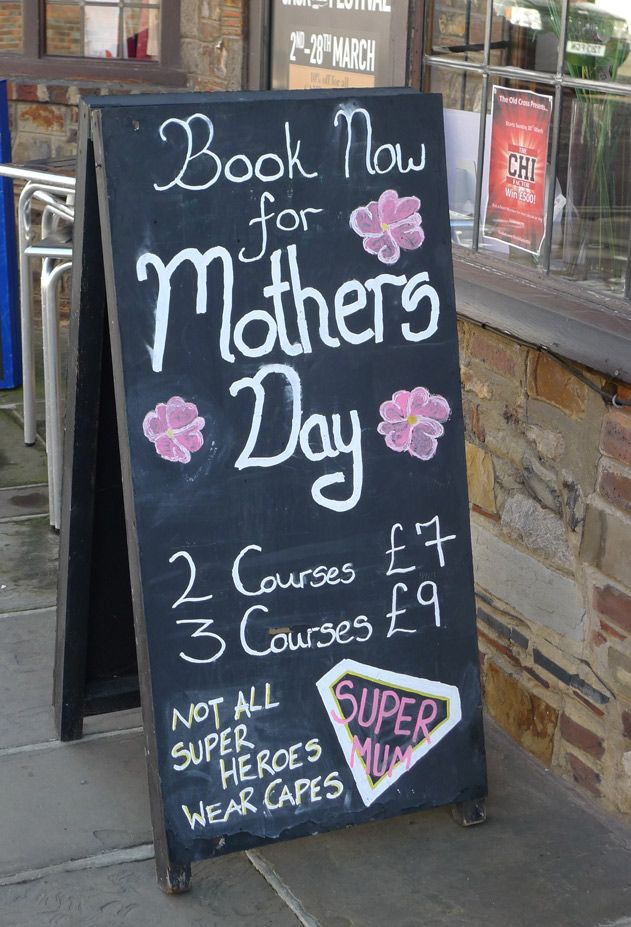 Chalk Board Street Signs With Mothers Day Message