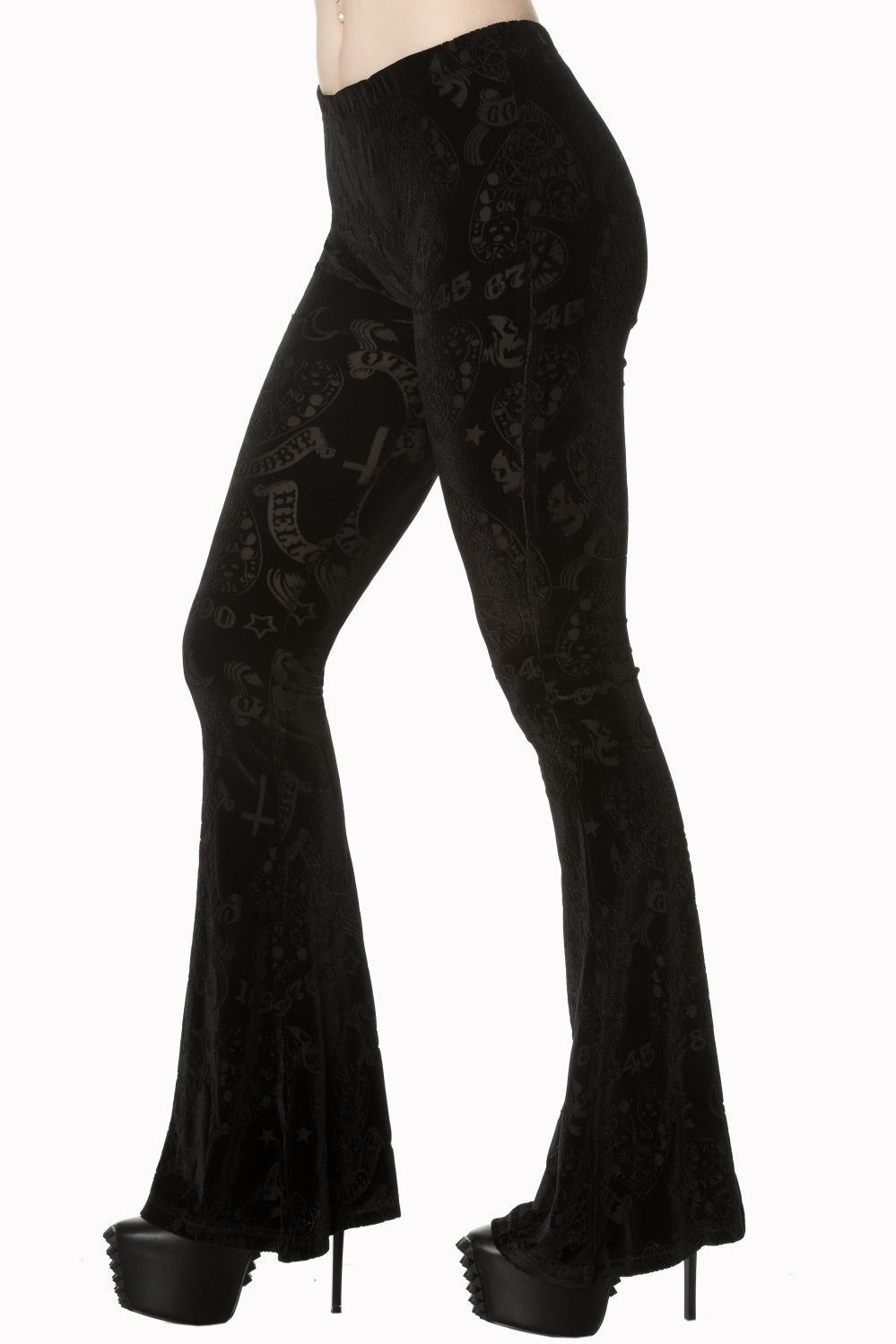 e75030e5edb2e Black Velvet Ouija Board design burnout pants. Witchy - Gypsy Goth style  Flared Bottom Pants. In stock and ready to ship!  gothic  gothicfashion   Witchcraft ...