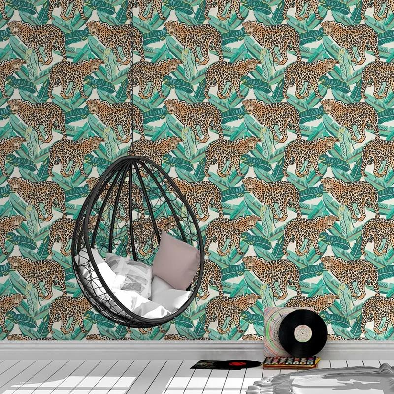 Adelio Wrought Studio Peel And Stick Wallpaper Panel Wallpaper Panels Peel And Stick Wallpaper Tropical Decor