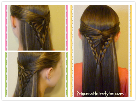 How To Diy Simple And Pretty Half Up Arrowhead Braid Hairstyle