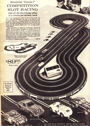 Strombecker Slot Racing Set We Had This In Our Living Room Forever I Wonder What Ever Happen To It Juguetes Retro Juguetes Carteles Antiguos