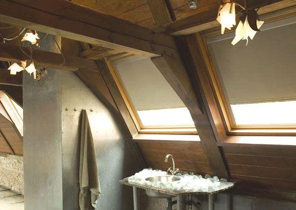 Dachfensterrollo, modern, Badezimmer | Dekoration | Pinterest ... | {Badezimmer mit dachfenster 75}