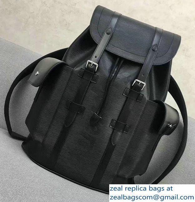 Louis Vuitton Epi Leather Supreme Christopher PM Backpack M50159 Black 0cf3964fd4049