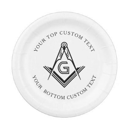 Personalized Masonic Party Plates and Decorations | Zazzle