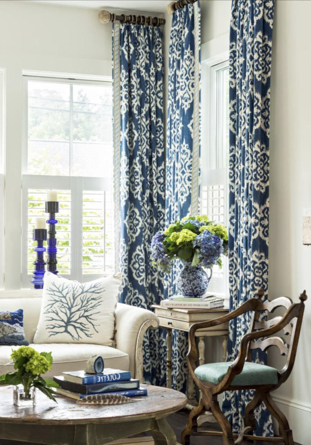Striped curtains blue and white linen curtains drapes drapery navy curtains custom designer curtain panel extra long blue navy wide curtains