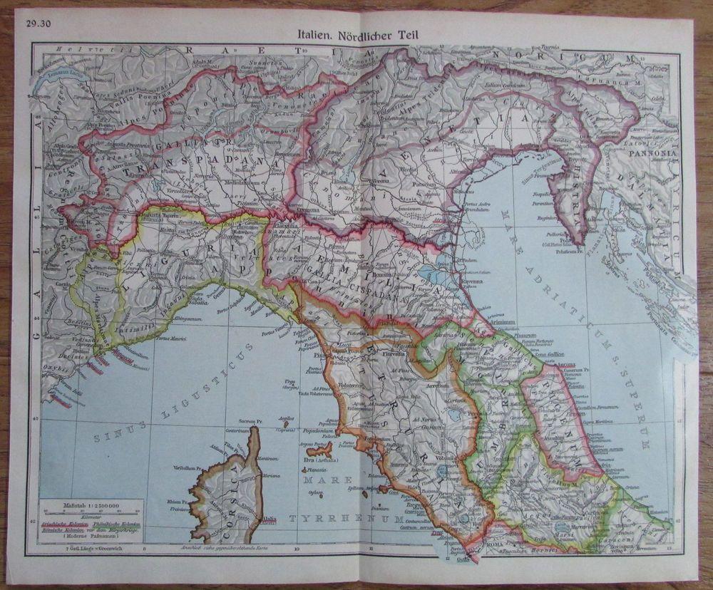 1935 Italien Sudlicher Und Nordlicher Teil 2 Historische Karten