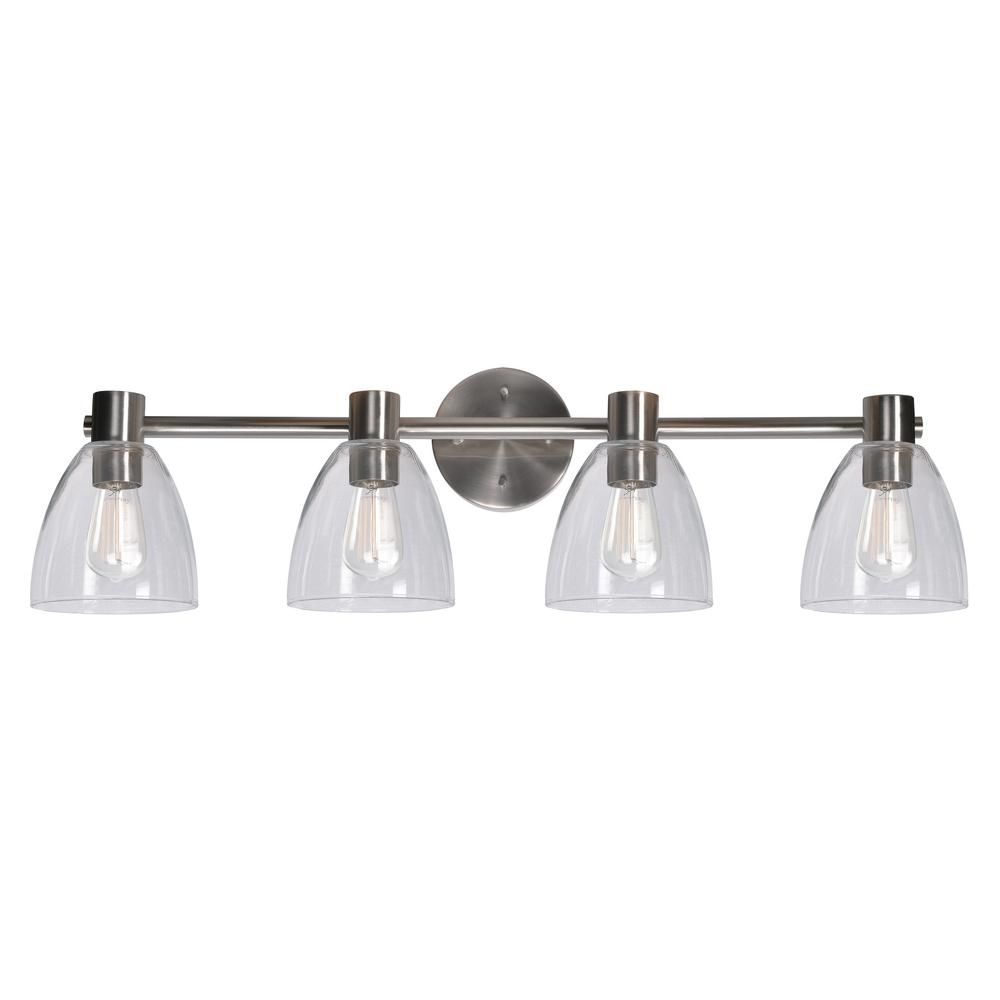 Kenroy home edis light steel bath light vanity steel bath light