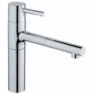 Grohe Essence Low Profile One Handle Single Hole Pull-Out Kitchen ...