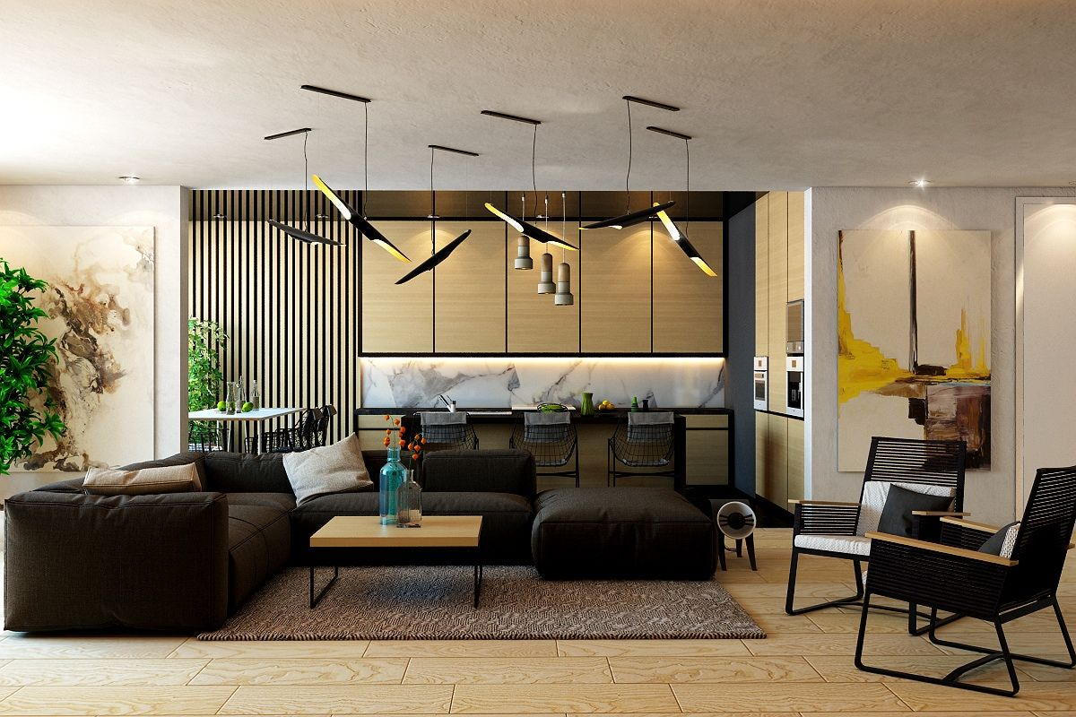 Wohnzimmer des modernen interieurs des hauses moderne und luxuriöse wohnzimmer designs sehen so hervorragend mit