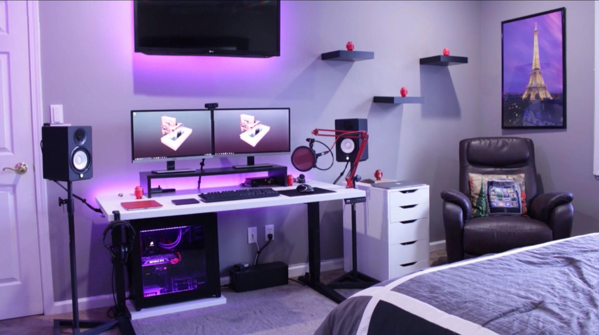 Home Office Dual Desk Setup: Setup Inspiration - DIY Computer Desk