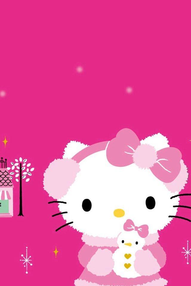 Wallpaper Hello Kitty Pink Cantik