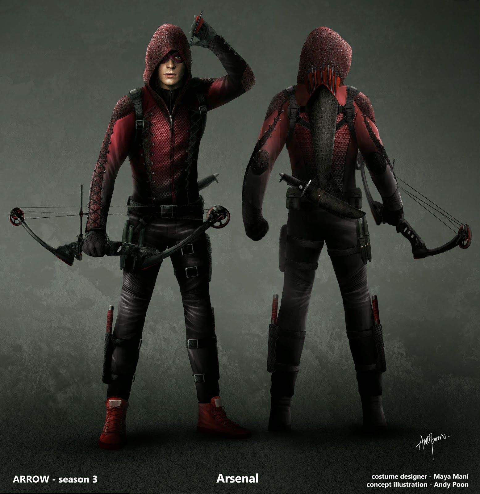 Arsenal Roy Harper Arrow Concept Art ARROW FLASH