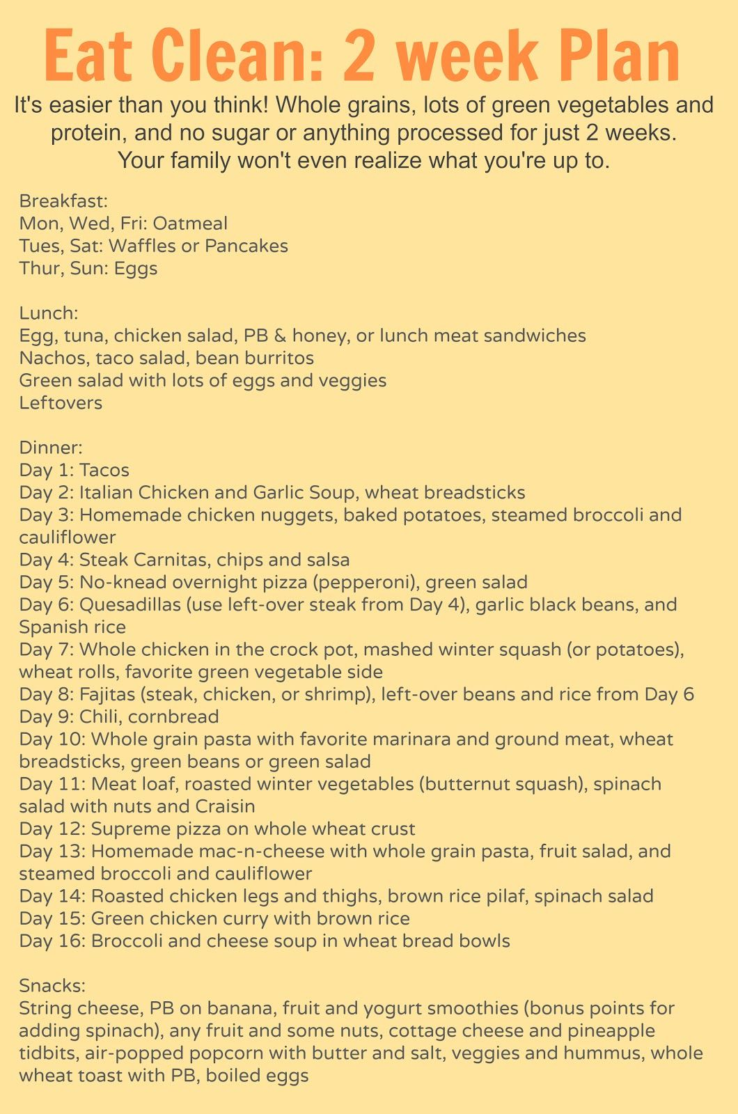 14 day clean eating meal plan for the whole family breakfast 14 day clean eating meal plan for the whole family ccuart Choice Image