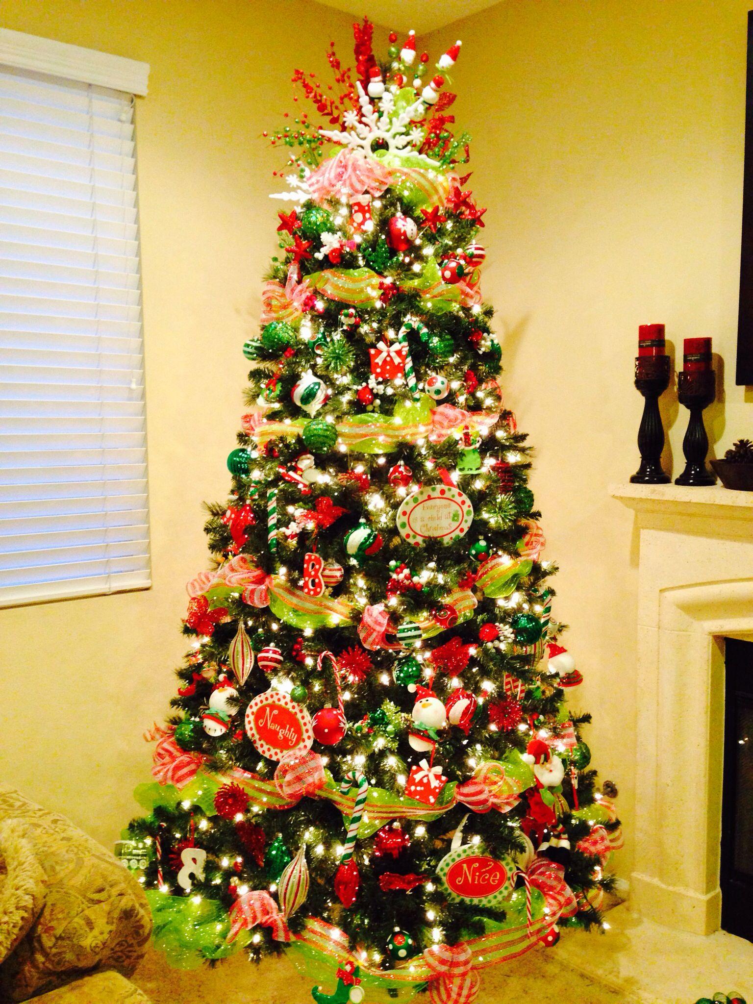 Deco Mesh Christmas Tree 2013 | Mesh christmas tree ...