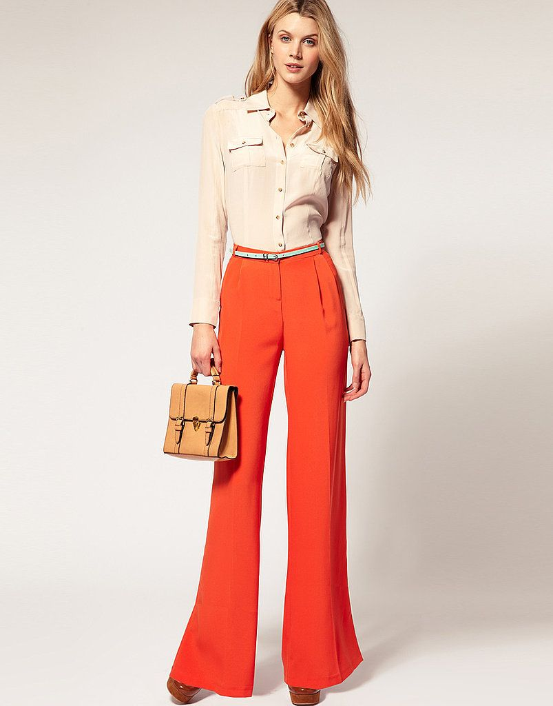 Wide leg tangerine pants - I guess I can go back to the bell bottoms.