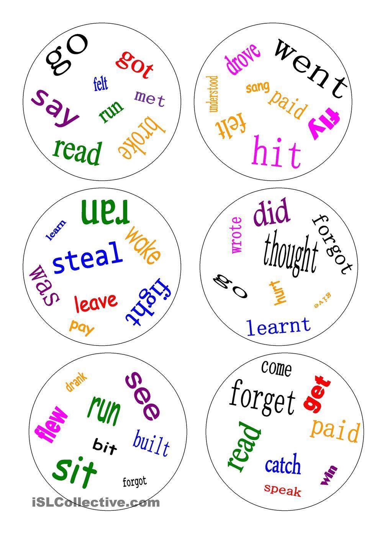 Dobble Irregular Verbs A Game Dobble Apprendre L Anglais Dooble