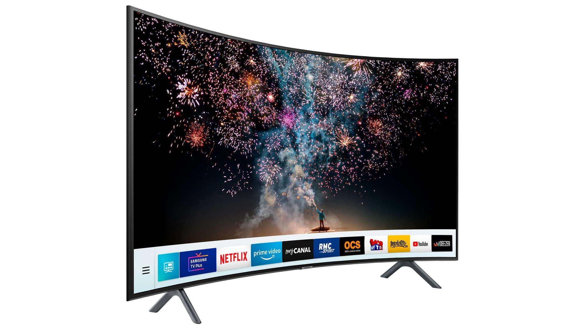 Televiseur Ecran Plat 123 Cm Samsung Ue49ru7305 Tv Led Televiseur Samsung