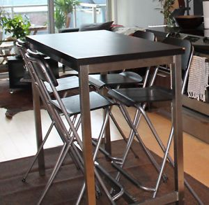 Ikea utby bar table with 4 franklin chairs kche pinterest ikea utby bar table with 4 franklin chairs watchthetrailerfo