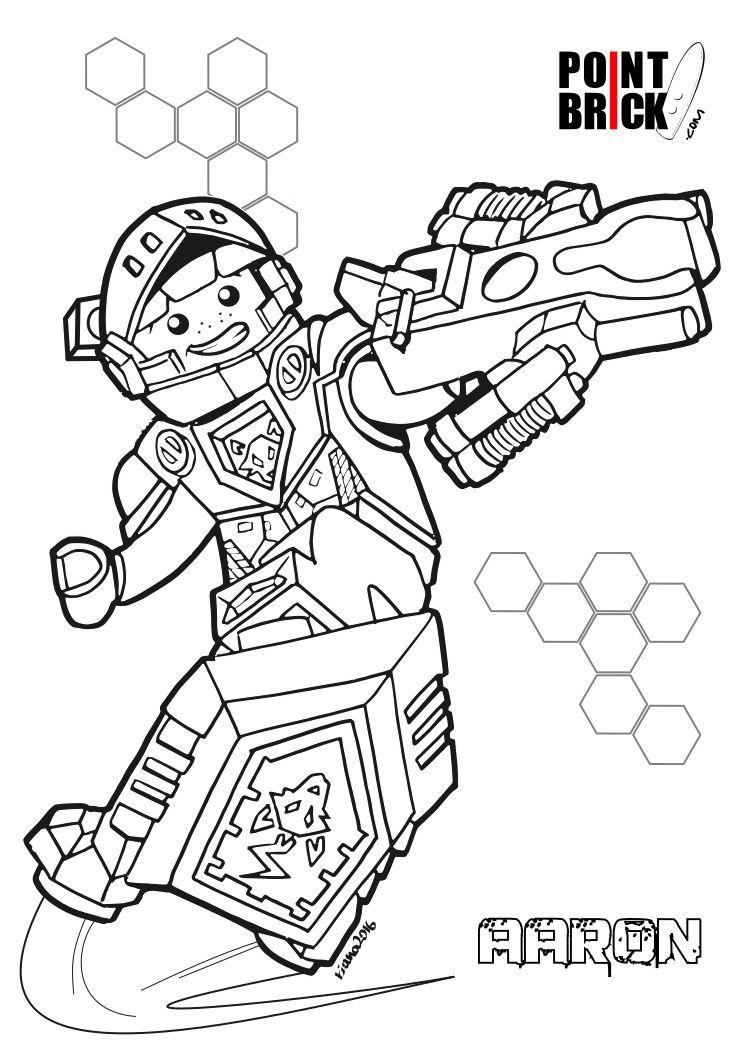 Disegni da Colorare LEGO NEXO Knights - Aaron - Clicca sull\'immagine ...