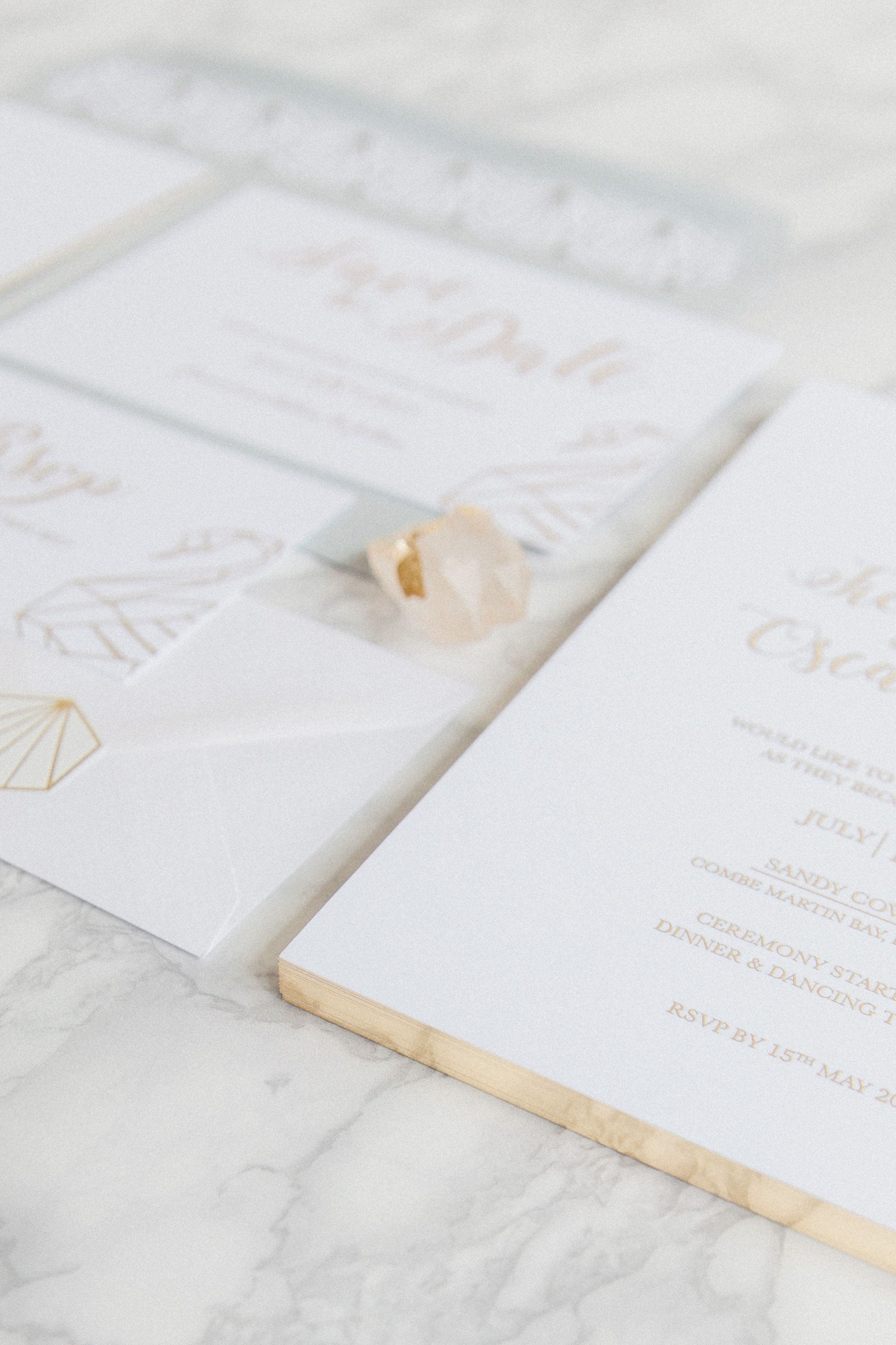 Origami Swan // luxury wedding stationery collection with gold ...