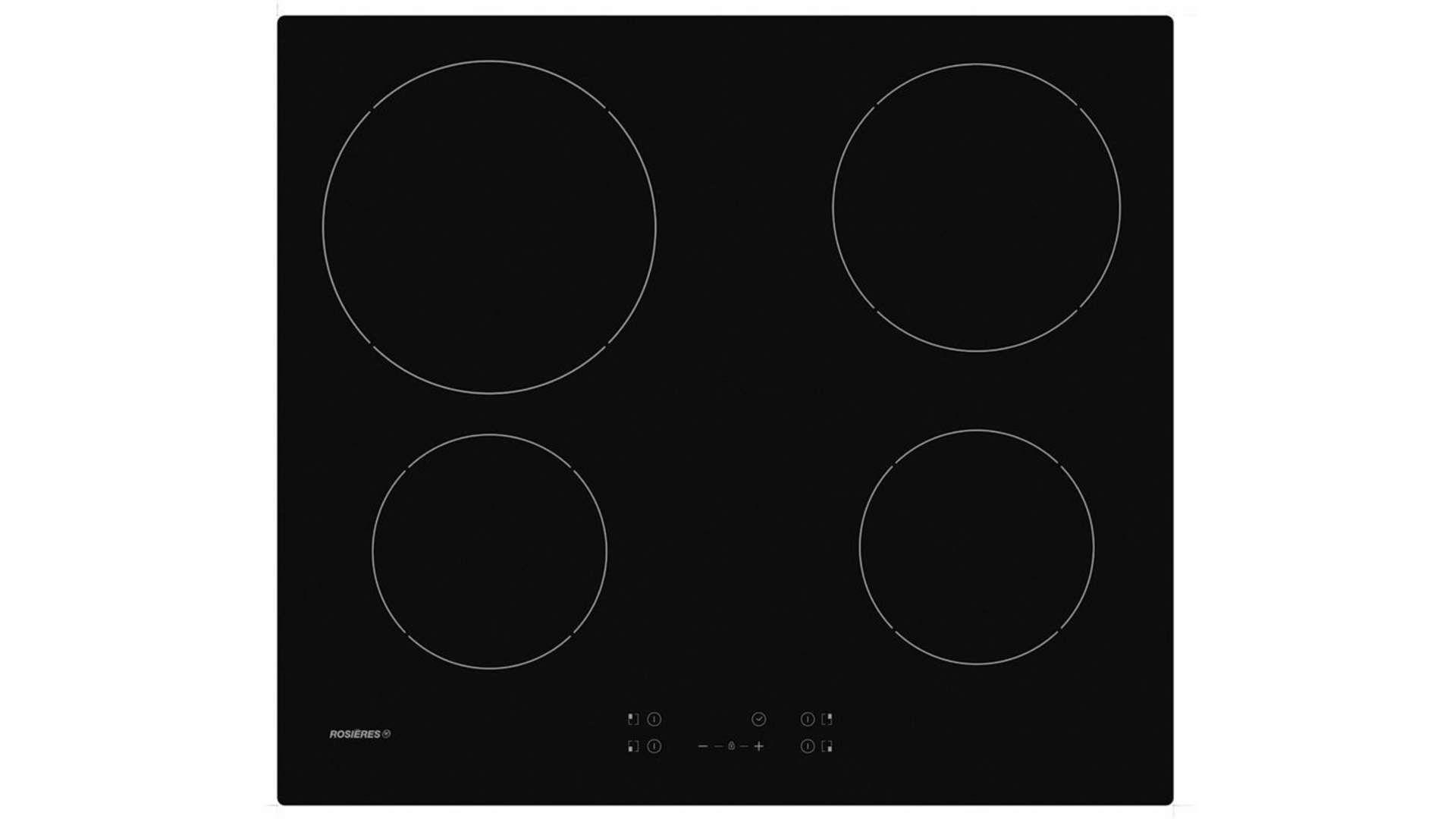 Achat Plaque Induction Pas Cher table de cuisson vitrocéramique rosieres rocth64c-1 en 2020