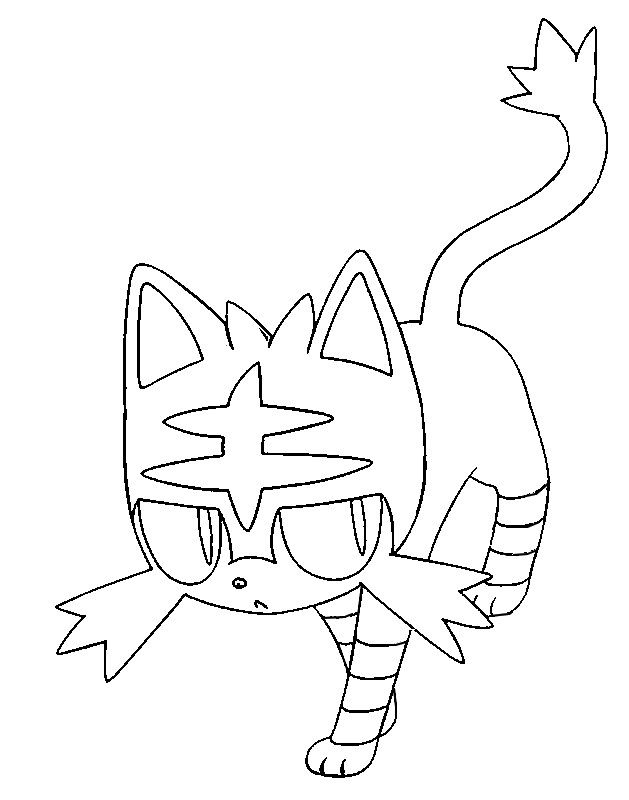 Coloring Page Pokemon Sun And Moon Litten 10 Pokemon