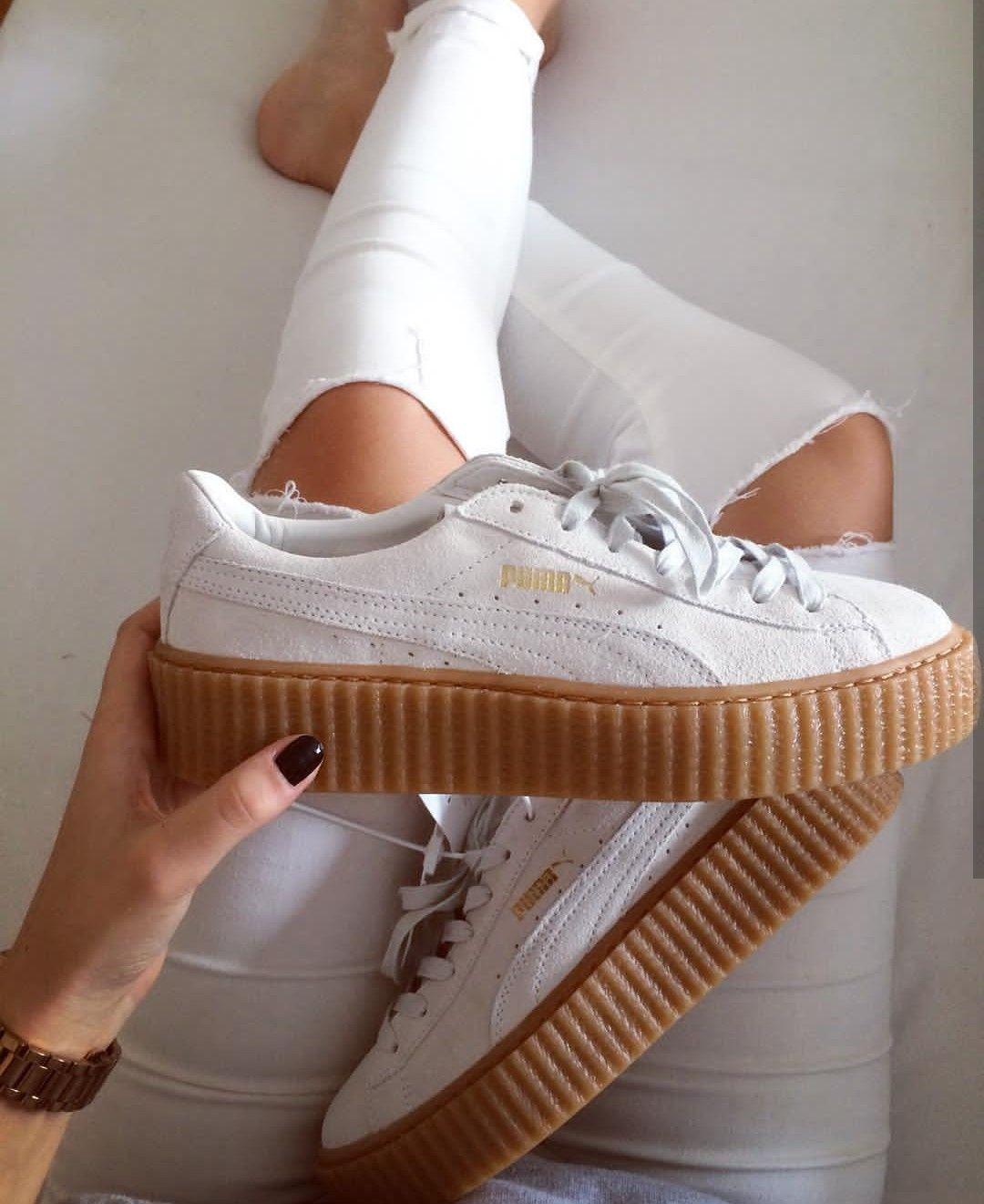 Puma fenty whiteweiß Foto: l_sfrt  Instagram   shoes