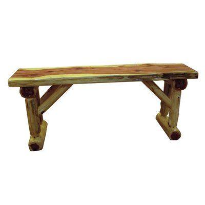 Loon Peak Gorham Cedar Wood Bench In 2019 Products Log Furniture
