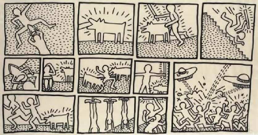 Untitled a blueprint drawing dr haring keith pinterest keith haring the blueprint drawings deconstructed malvernweather Gallery
