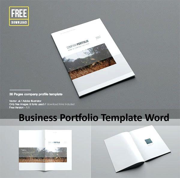 Business Portfolio Template Word Download ปกหนังสือ