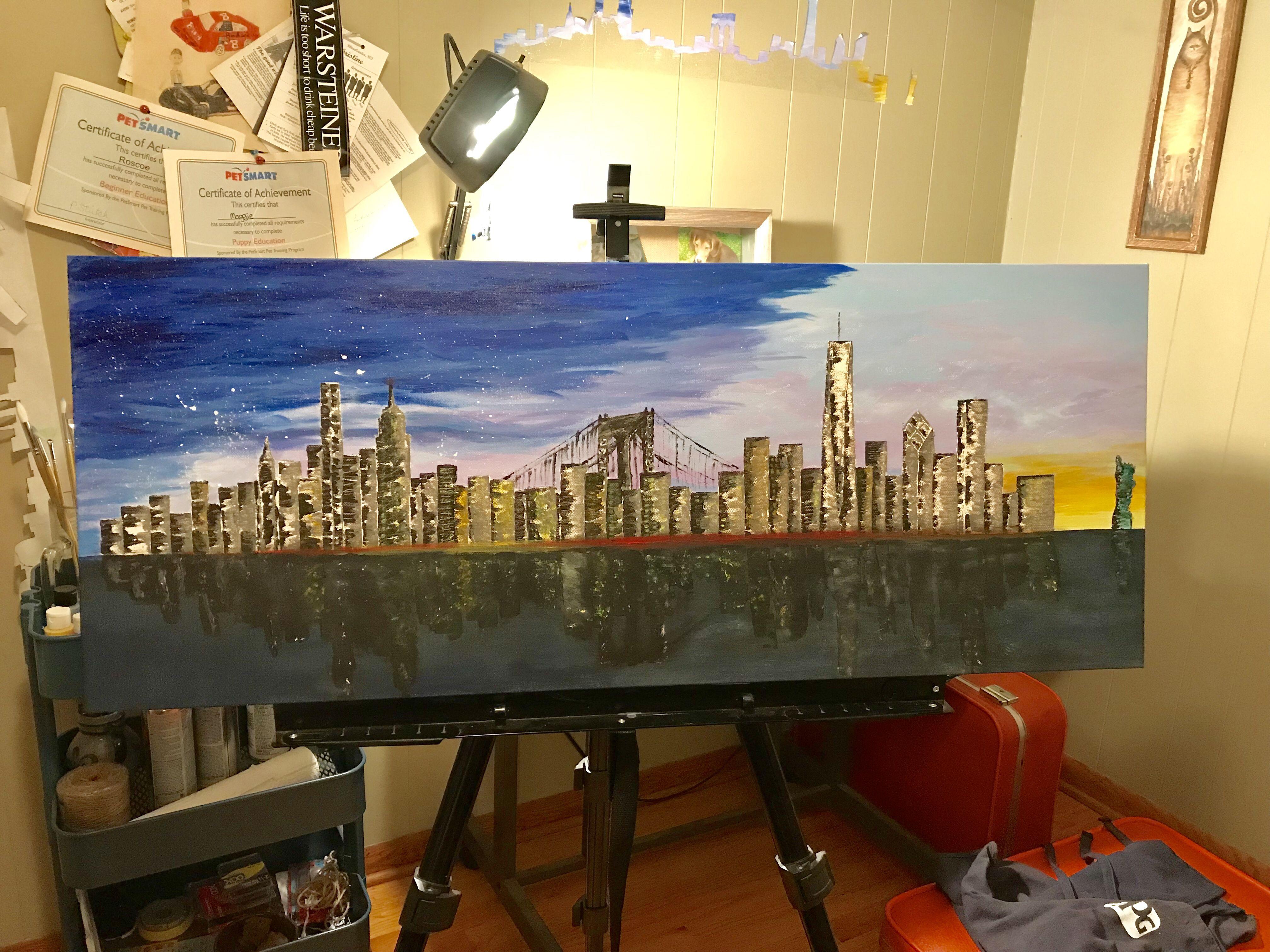 By Donny New York Skyline Painting Skyline