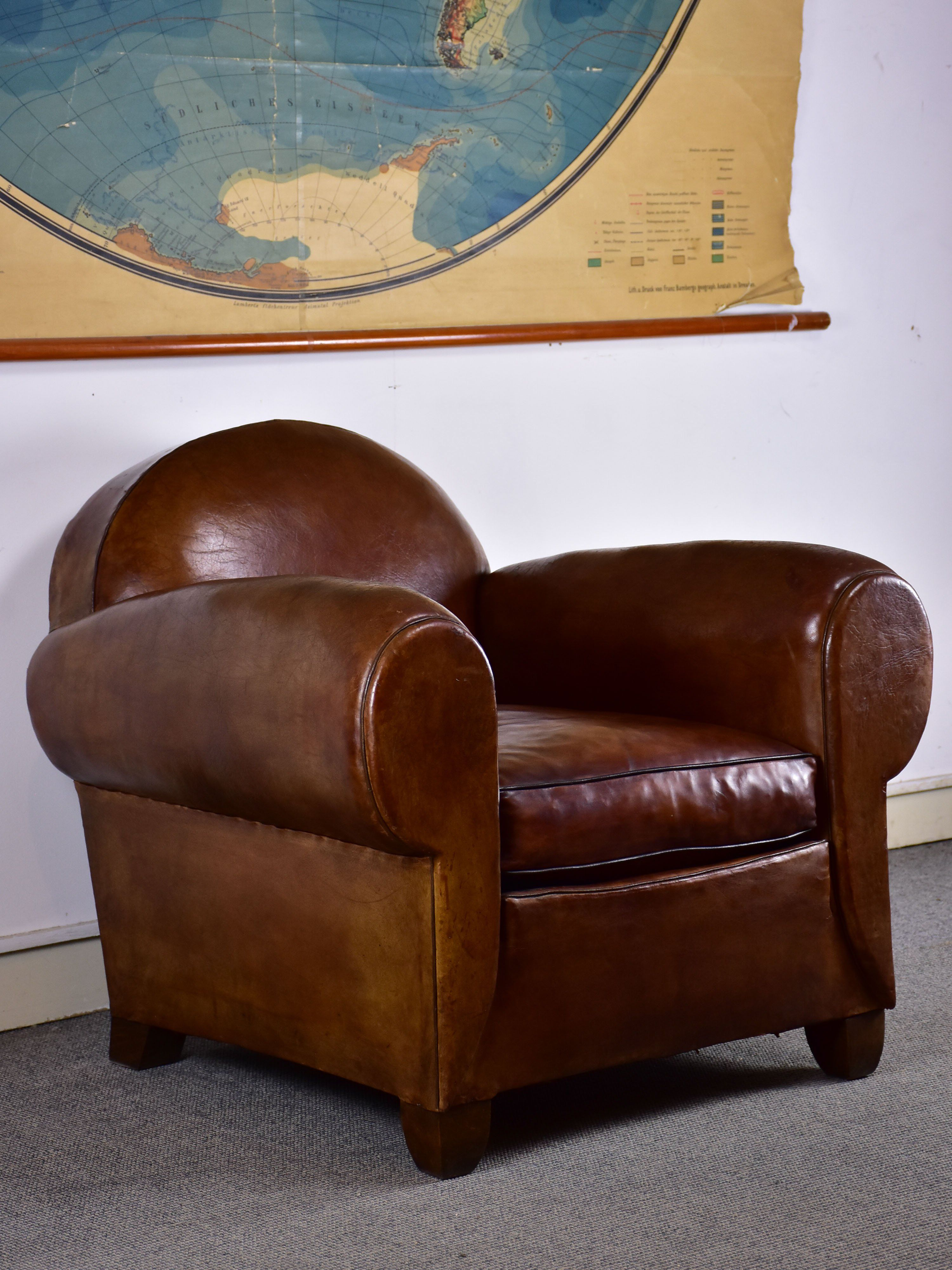 Excellent Classic 1930S French Leather Club Chair In 2019 Leather Dailytribune Chair Design For Home Dailytribuneorg