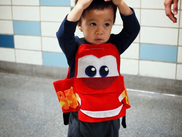 Happy Halloween from a little Lightening McQueen Happy halloween - twin boy halloween costume ideas
