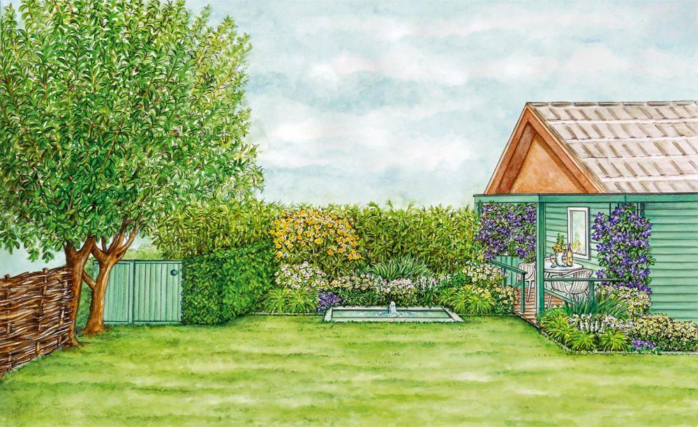 Neugestaltung Einer Dunklen Gartenecke Garten Gartenecke Diy Garten