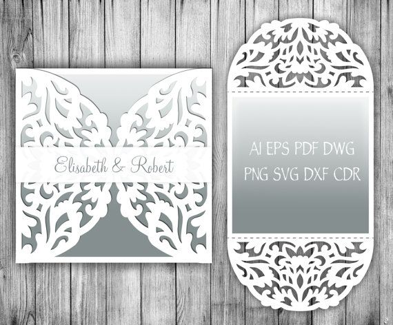 X Rustic Wedding Invitation Card  Envelope Template