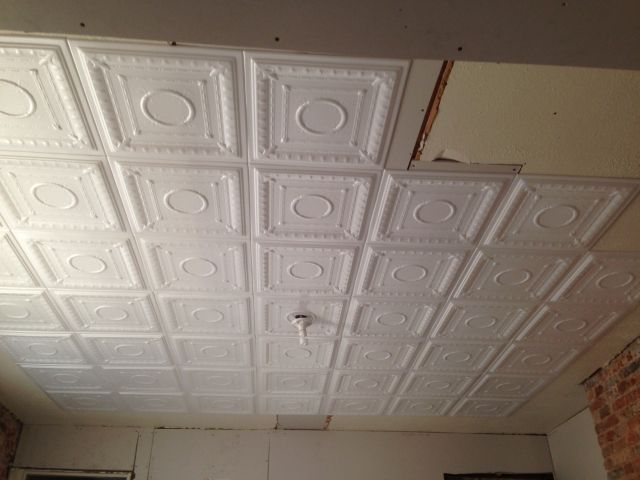 Super Easy Diy Faux Tin Ceiling Decorative Foam Tiles Ordered From