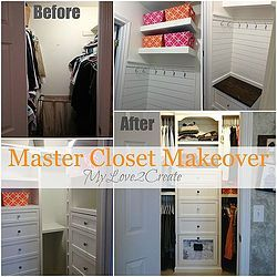 master closet makeover reveal, cleaning tips, closet, diy, Before and after shots