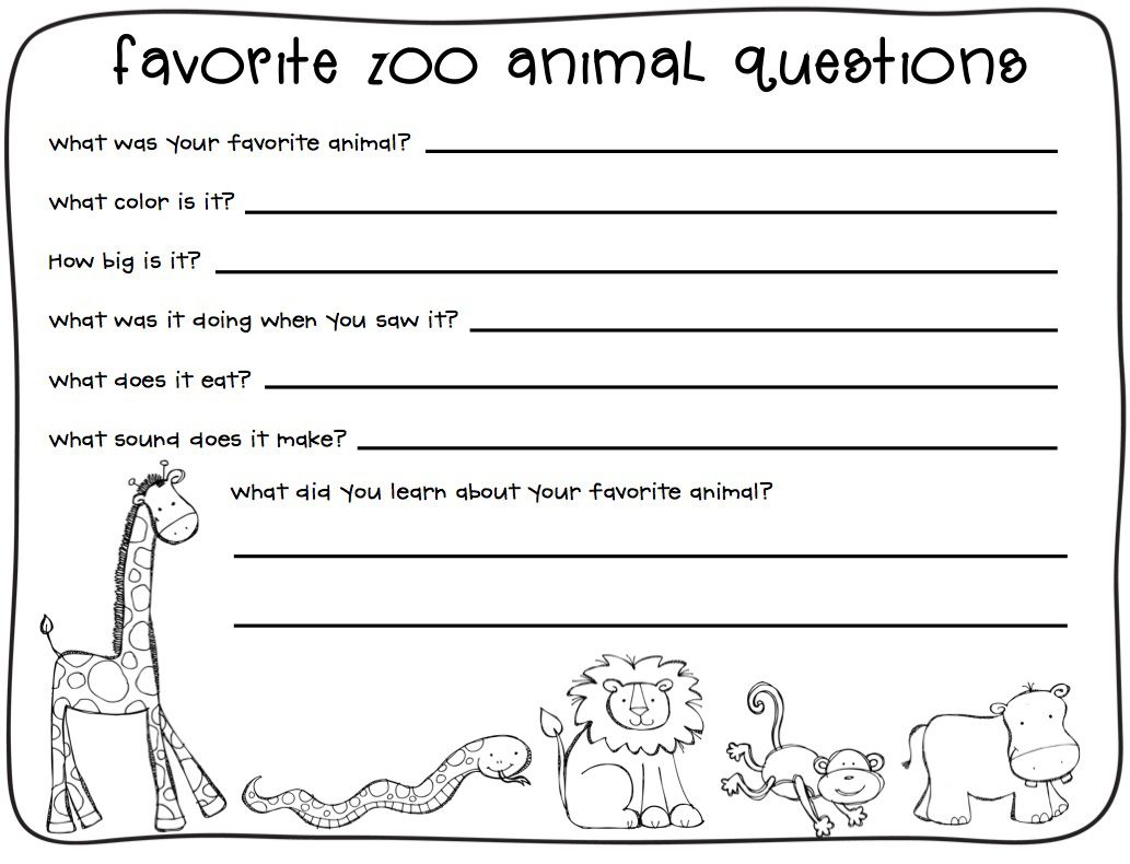 2nd Grade Writing Worksheets Best Coloring Pages For Kids Zoo Lessons Zoo Animals Writing Worksheets