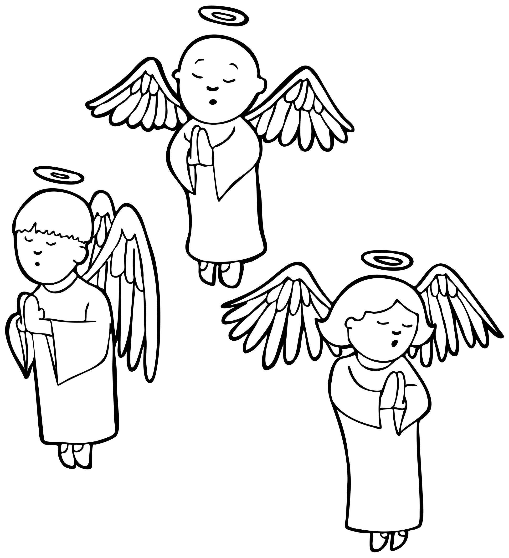 Angel Coloring Sheet – Kids Angels Coloring Sheet and Christian Song ...