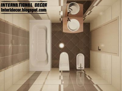 3d Tiles Design For Small Bathroom Design Ideas Cream Brown Ceramic Tiles For Baths Small Bathroom Small Bathroom Design Small Bathroom Styles